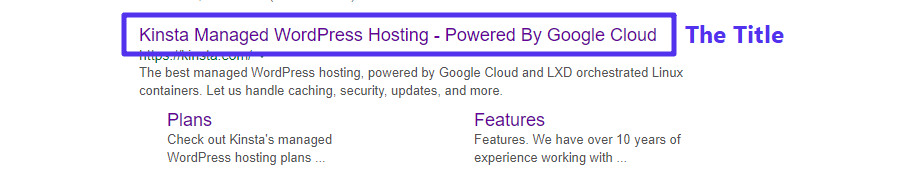 An example of an SEO title