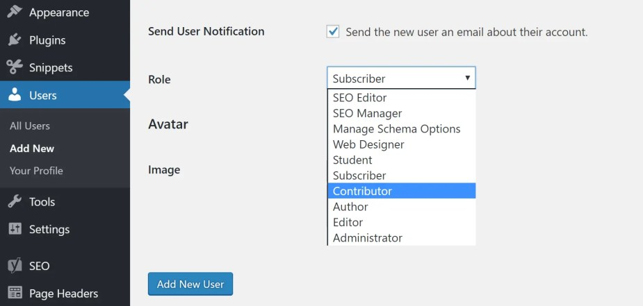 WordPress roles and permissions