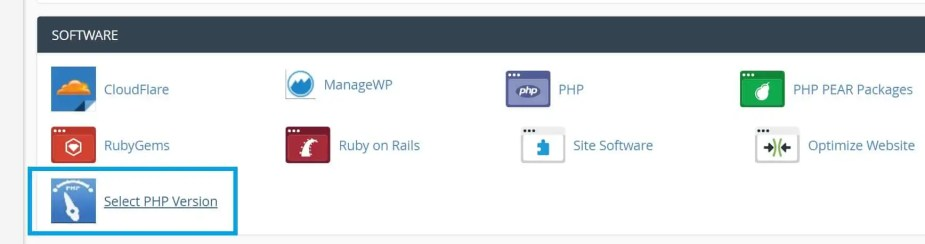 select php version