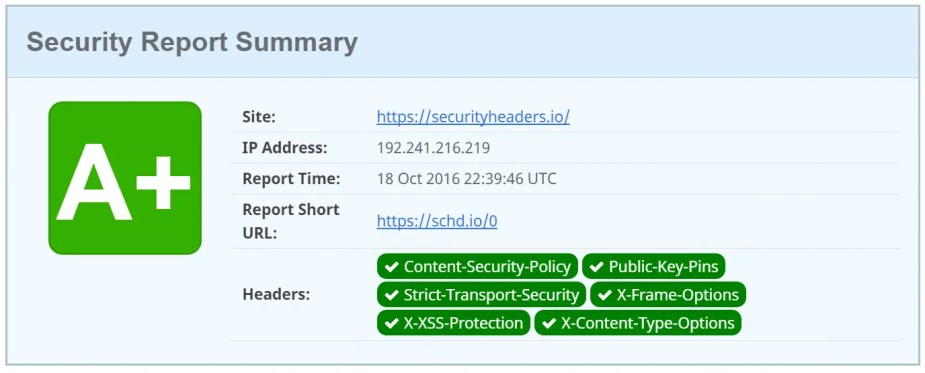 http security headers scan