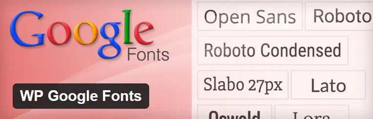 WP Google Fonts plugin screenshot