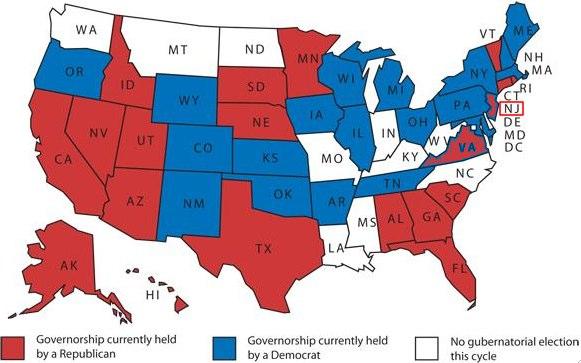 2009-2010 Gubernatorial Races, U.S. States