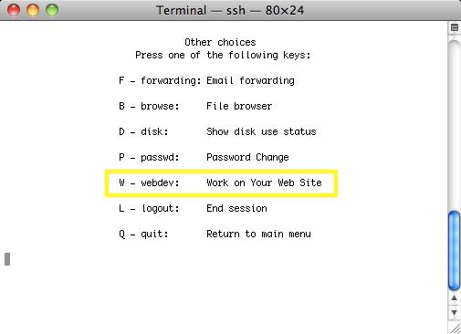 terminal - uw