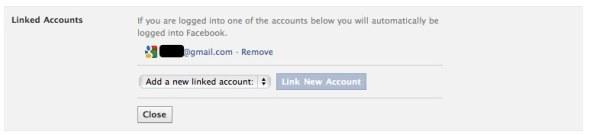 facebook linked