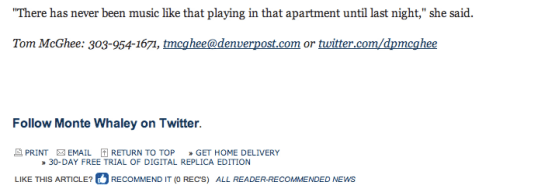 Denver Post Footer