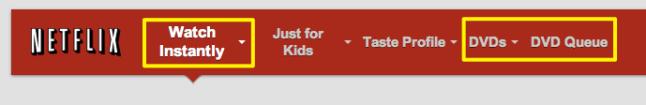 Netflix Menu