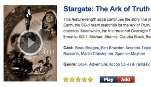 Stargate Search Entry