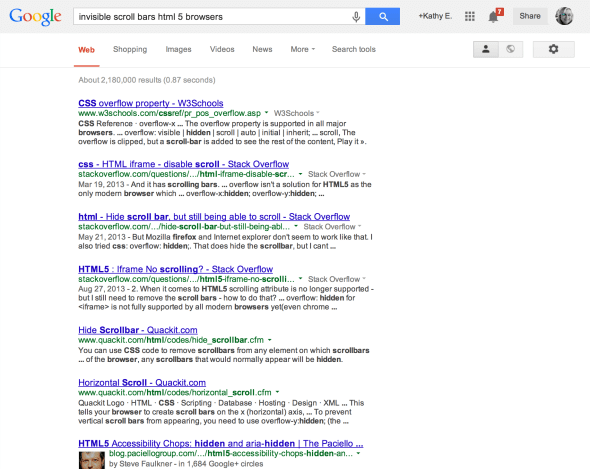 screen capture of chrome google search