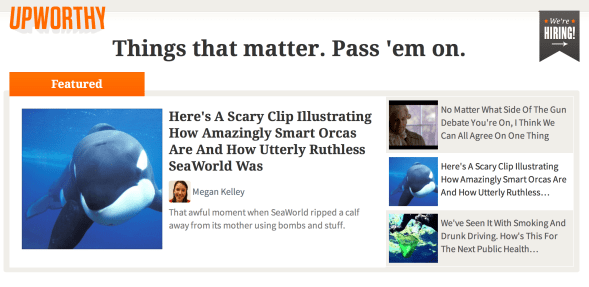 Upworthy headlines and copycats: just say no. Please.