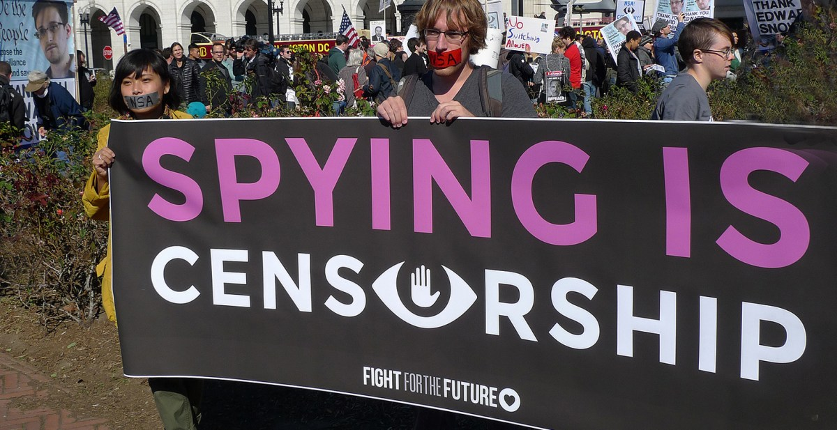Spying is censorship, Flickr
