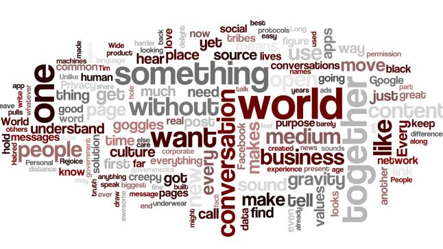 Wordle - Cluetrain's New Clues