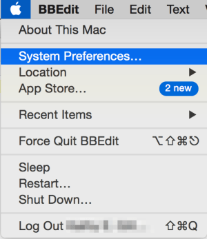 Access System Preferences