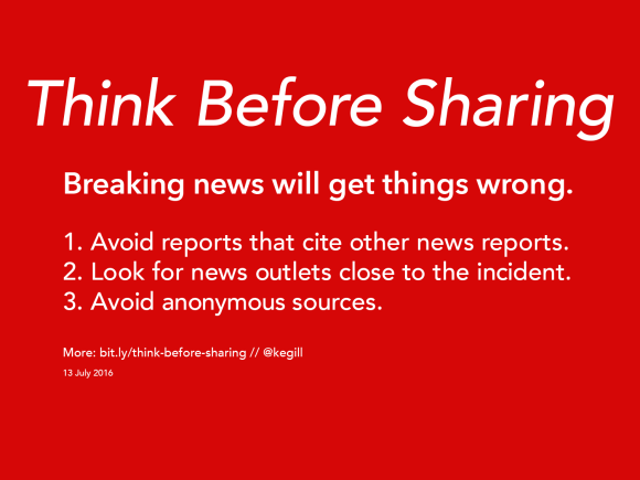 think before sharing