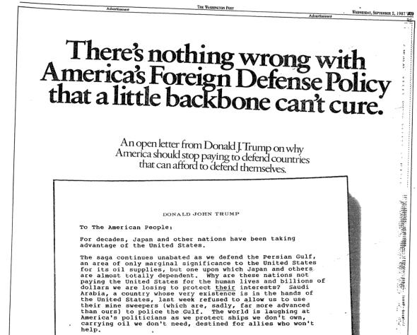 Trump ad September 2, 1987