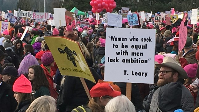 signs - Seattle Women's March