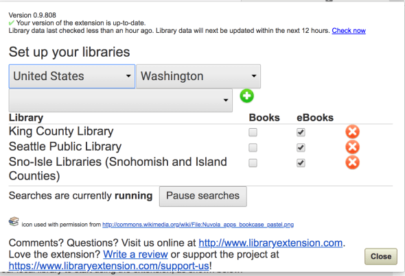library extension - multiple libraries