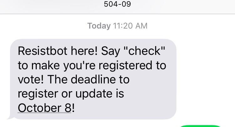 Resistbot text