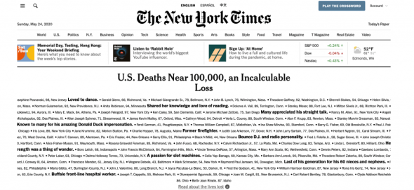 New York Times home page