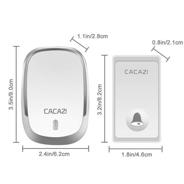 wireless doorbell dimensions