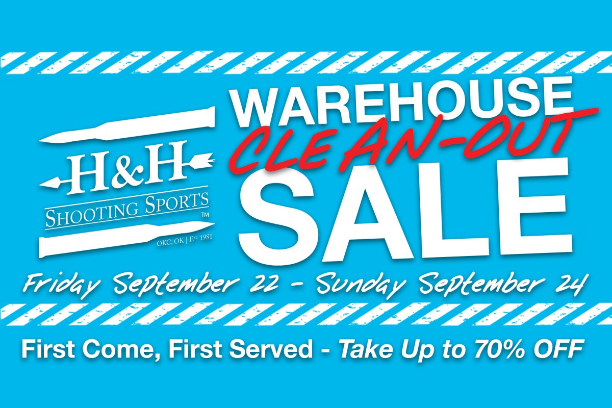 H&H Warehouse Clean-Out Sale Sept 22, 23, & 24