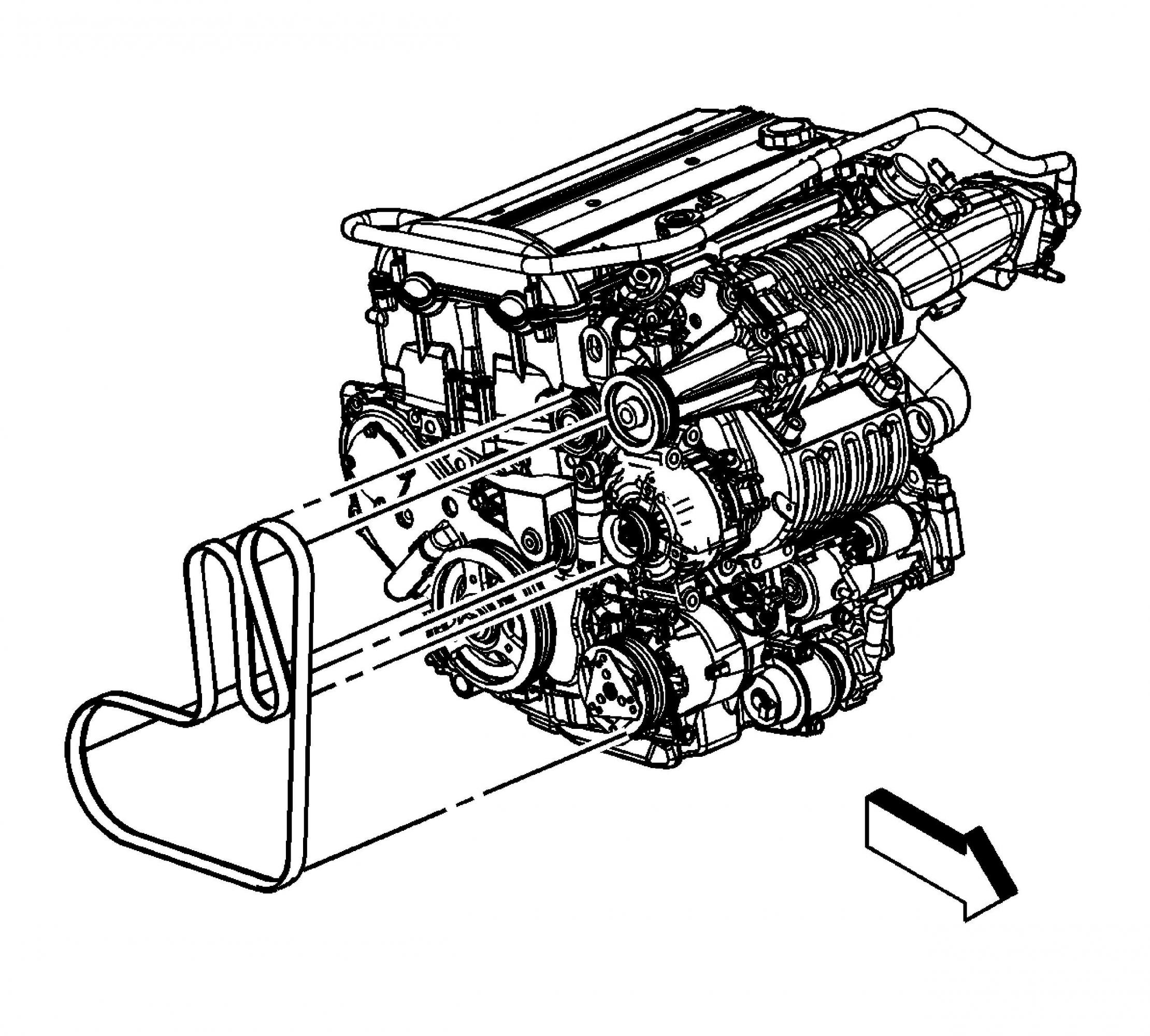 Chevy Malibu Serpentine Belt Diagram