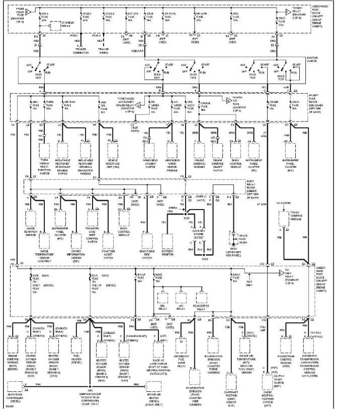 2004 chevy silverado 2500hd wiring diagram  wiring diagrams