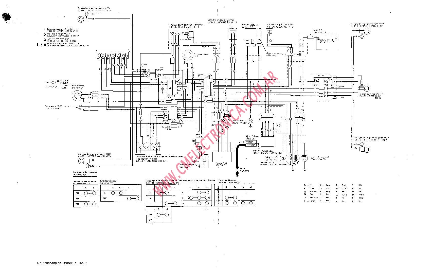 2h9 Yamaha Xs Wiring Diagram European