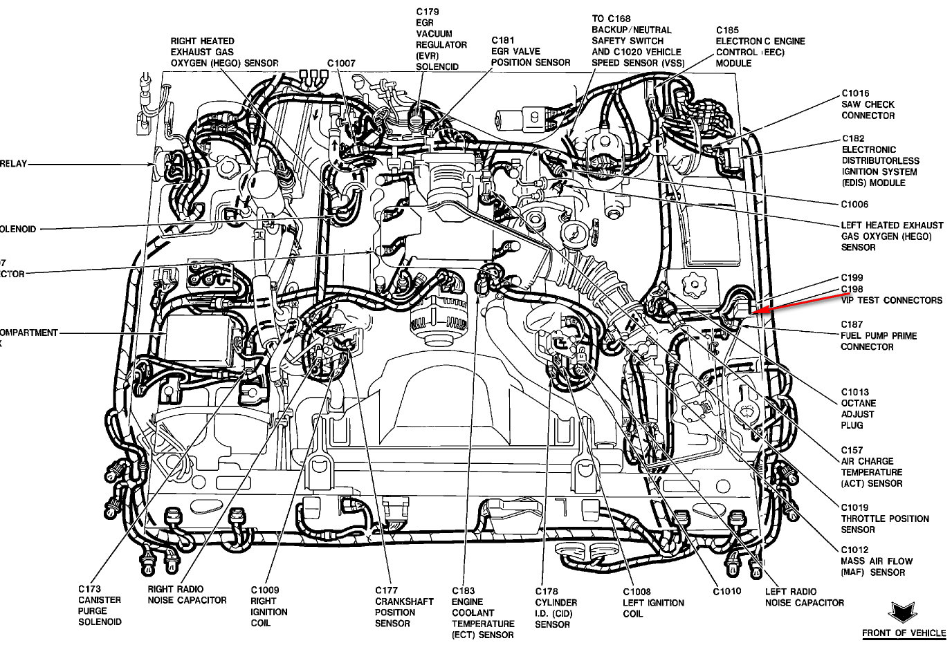 Color Coded Wiring Diagram For The Fuel Pump In A
