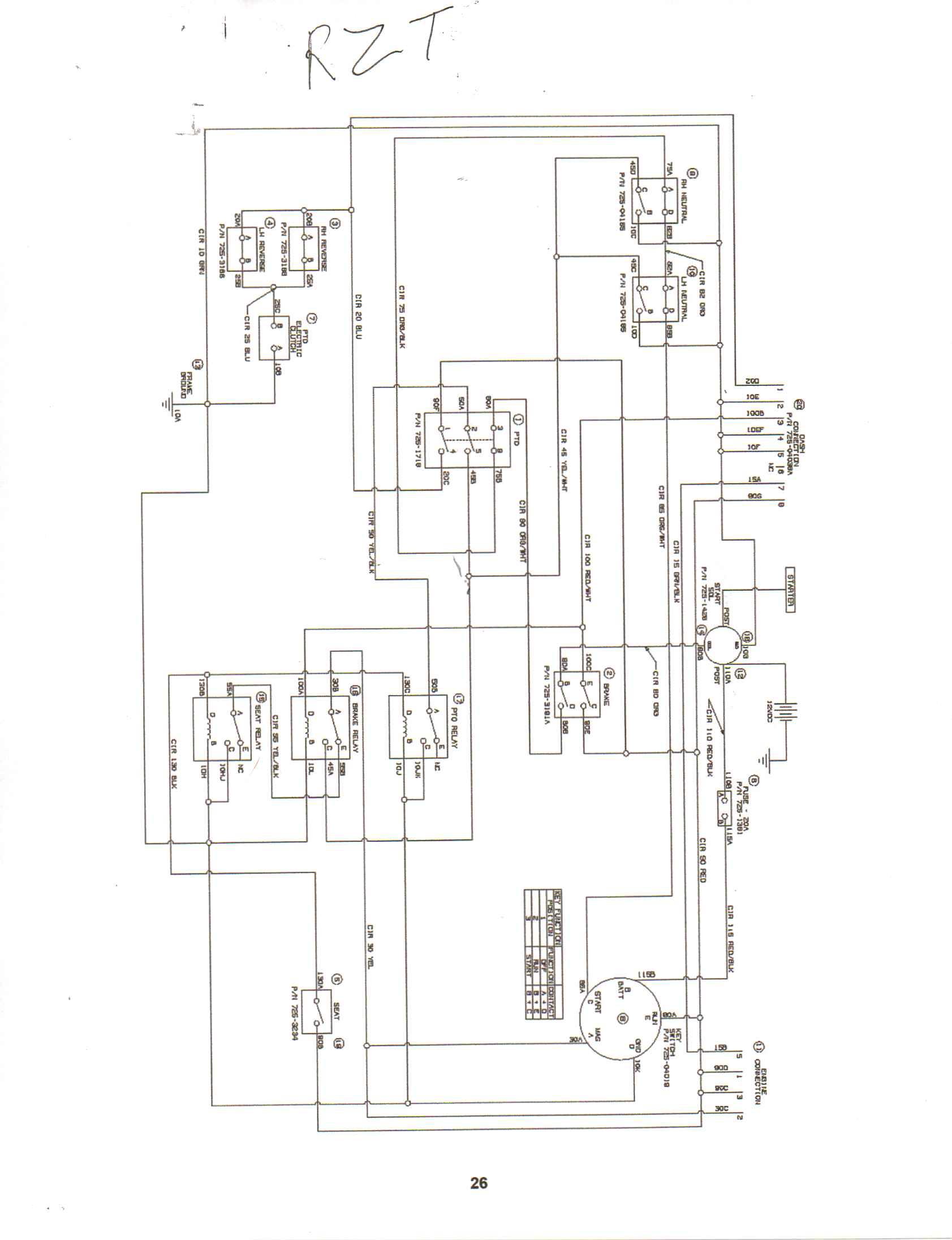 Cub Cadet Pto Wiring Diagram