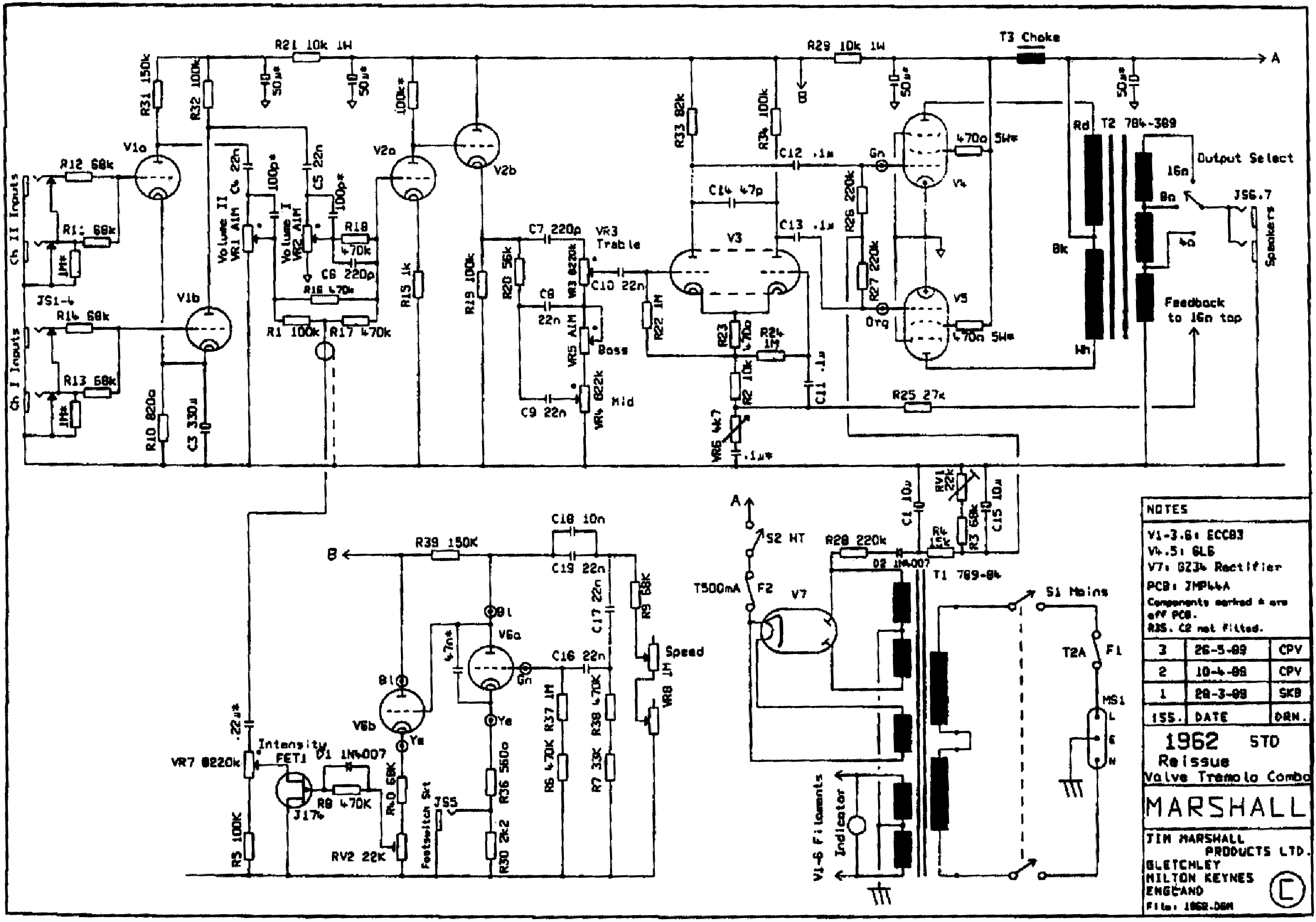 Marshall Jcm 800 Wiring Diagram Schematic