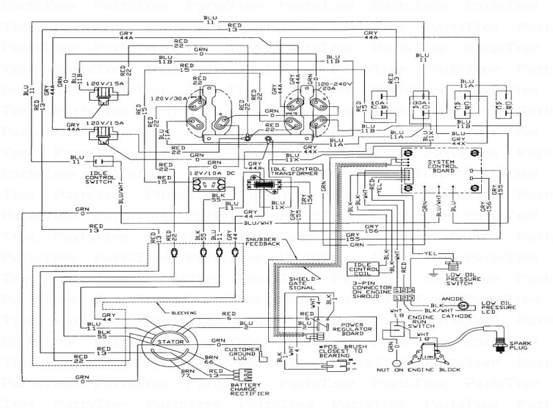 onan generator wiring diagram 611 1267 onan generator wiring schematics onan 4000 rv generator parts diagram - wiring forums #7
