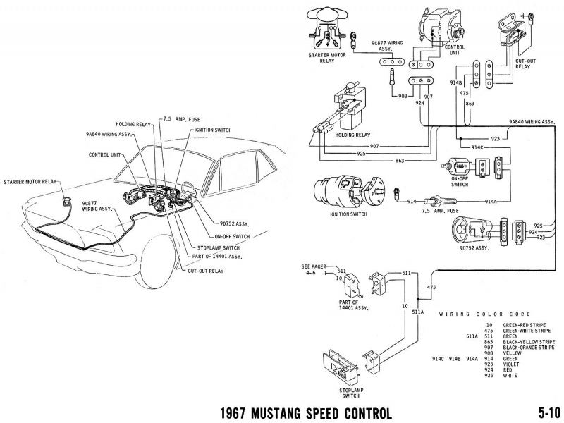 1965 Mustang Steering Column Diagram