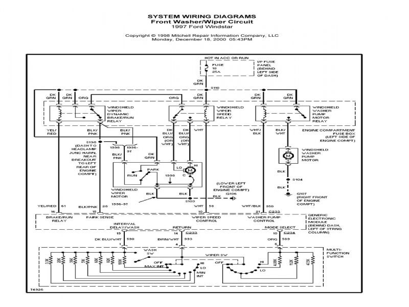 34 2001 Ford Windstar Cooling System Diagram