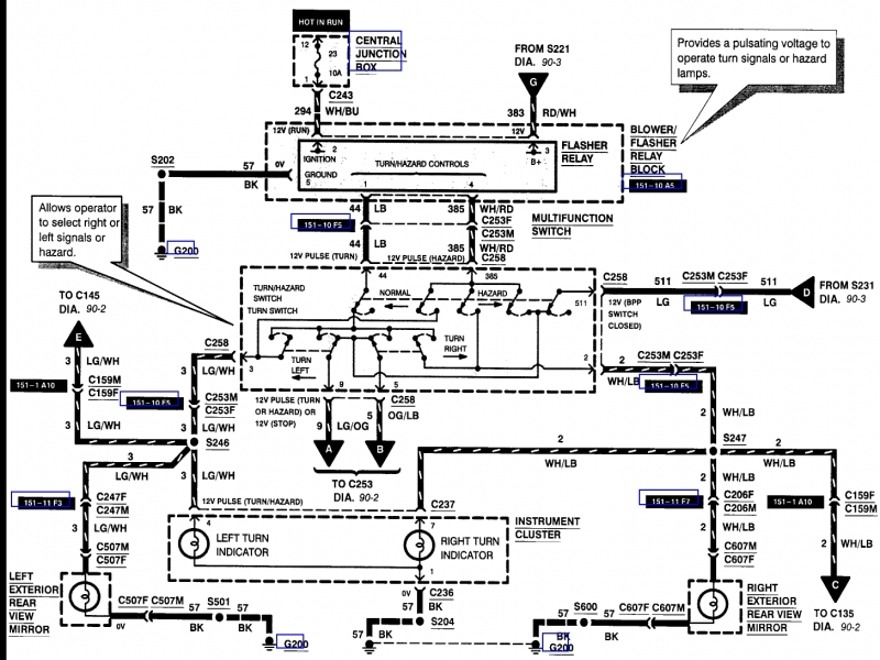 1999 Ford F 150 Steering Column Diagram  Wiring Forums