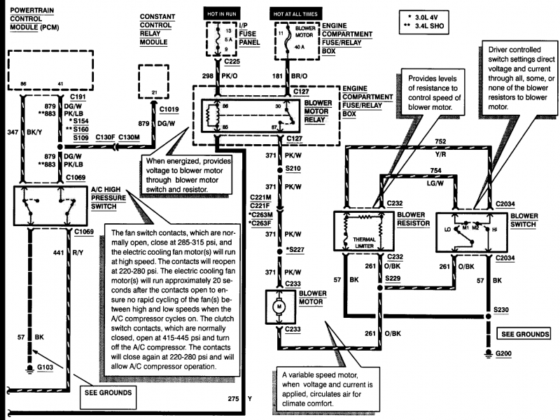 2002 Ford Taurus Electrical Diagram  Wiring Forums
