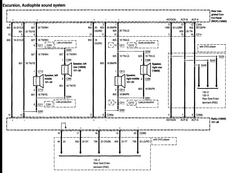 Ford Factory Stereo Wiring Diagram  Wiring Forums