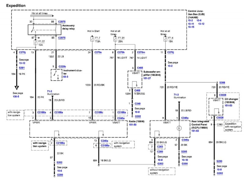 ford excursion radio wiring diagram 2003 excursion radio wiring diagram #7
