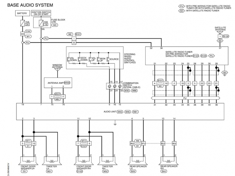 2003 infiniti g35 bose stereo wiring diagram wiring forums GMC Canyon Stereo Wiring Diagram  Nissan Altima Stereo System 2007 Nissan Altima Wiring Diagram Nissan Altima Instrument Cluster