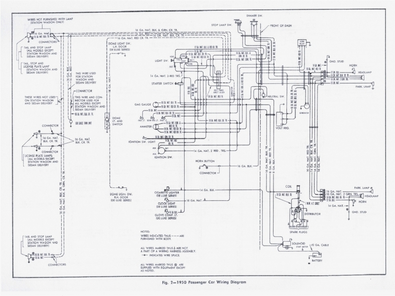 51 Ford Headlight Switch Wiring Diagram