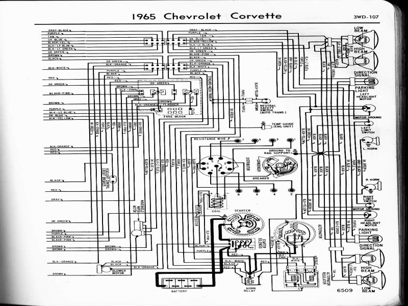 1965 Corvette Wiring Schematic