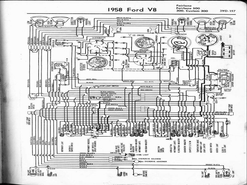1958 Ford Fairlane 500 Wiring Diagram  Wiring Forums