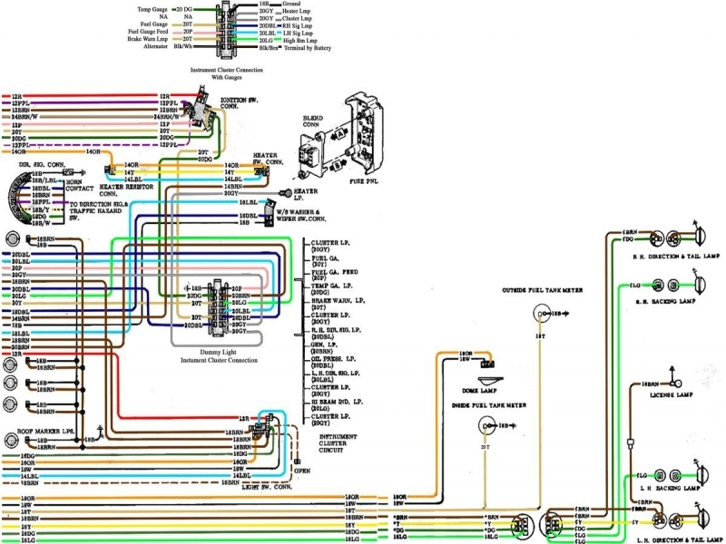 1972 Chevy C10 Wiring Diagram Fuse  Wiring Forums