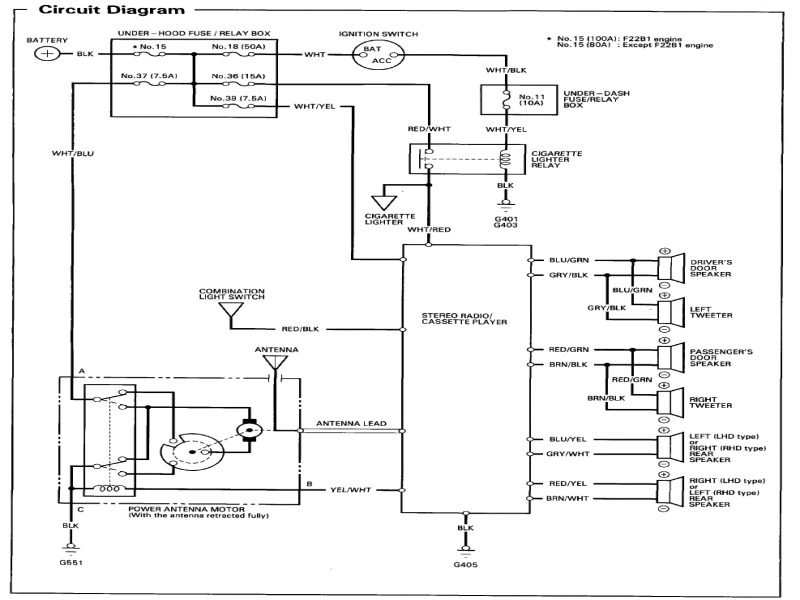 Diagram 94 Accord Radio Wiring Diagram Cant Find The Right One