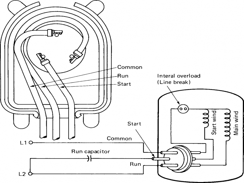 ac capacitor wiring diagram whirlpool ac capacitor wiring diagram picture