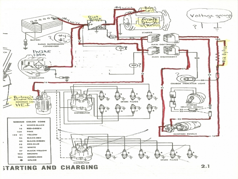 1965 Ford Mustang Alternator Wiring Diagram  Wiring Forums