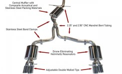 Awe Tuning B8 A4 2.0T Touring Edition Exhaust And Downpipe Systems
