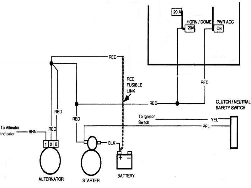1984 Chevy Truck Alternator Wiring Diagram  Wiring Forums