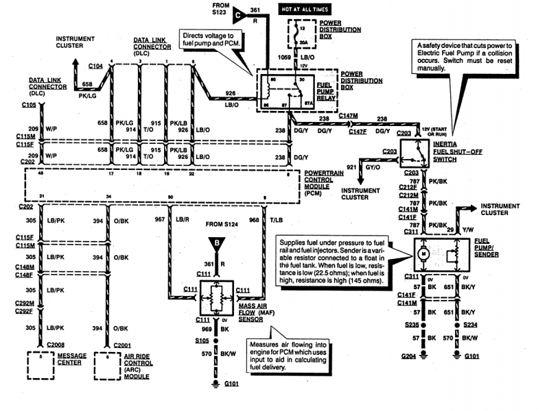 Ford Explorer Fuel Pump Wiring Diagram  Wiring Forums