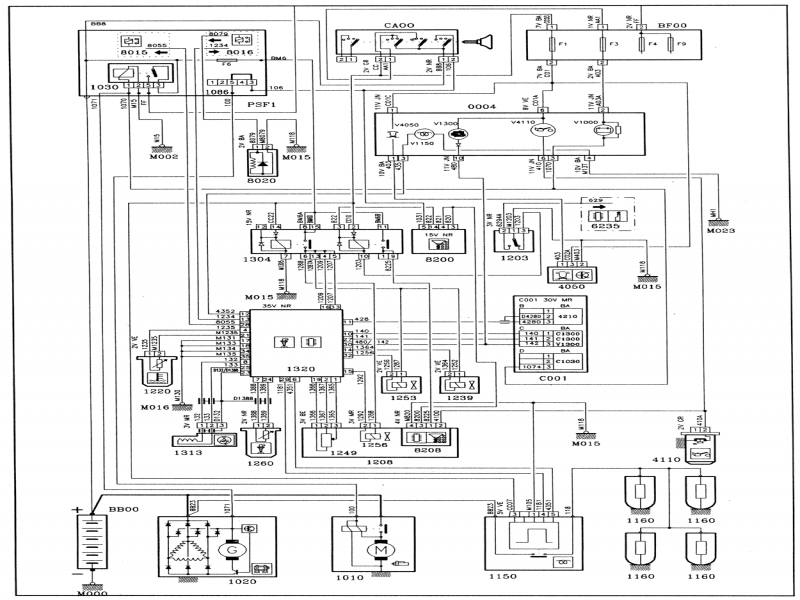 Manual Peugeot 206 Fuel Injection System Wiring Diagrams