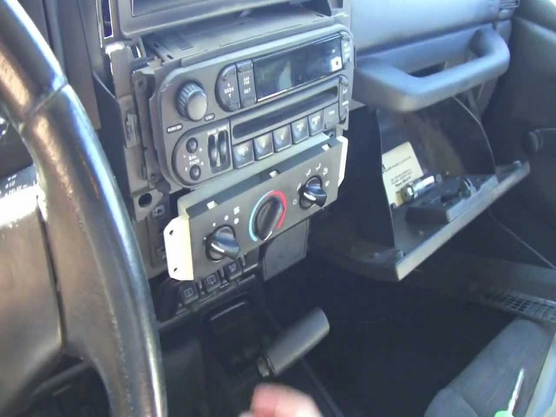 Diy Car Stereo Install In A Jeep Tj - Youtube
